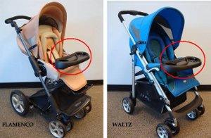 Детали колясок Zooper, подлежащие замене. Фото с сайта CPSC