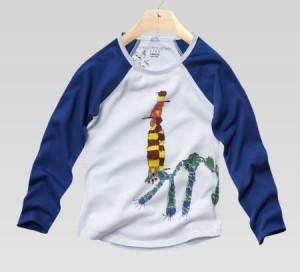 Tootie: boys t-shirt, organic cotton, rattlesnakebear print
