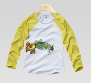 Tootie: girl t-shirt, organic cotton, rainbow mouse print