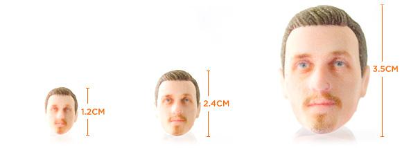 Размеры голов, которые делает Firebox