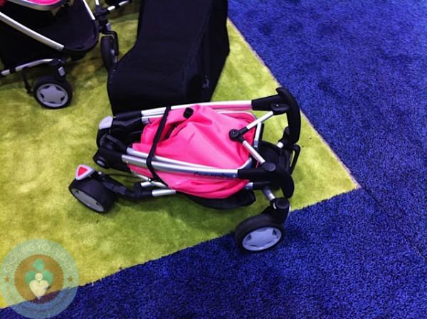 Так будет выглядеть коляска Quinny Zapp Xtra в сложенном виде. Фото с сайта Growingyourbaby.com