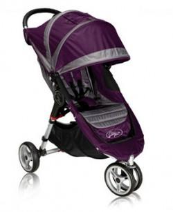 Baby Jogger City Mini в расцветке 2012 года (пурпурный и серый)