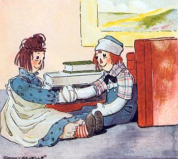 Иллюстрация к книге Груэлла о тряпичных Энн и Энди