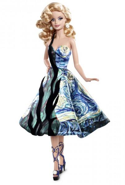 Барби, вдохновленная полотнами Ван Гога. Фото с сайта Barbiecollector.com
