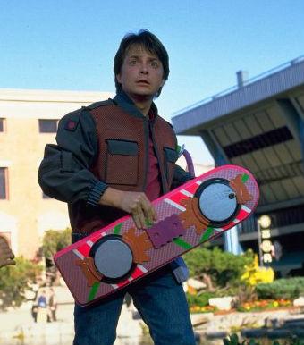 "Hoverboard. Кадр из фильма ""Назад в будущее-2"""