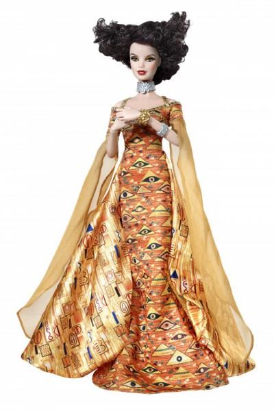 Барби, вдохновленная полотнами Климта. Фото с сайта Barbiecollector.com