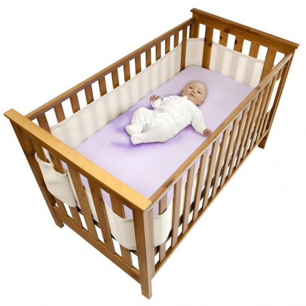 Безопасные бортики для кроватки